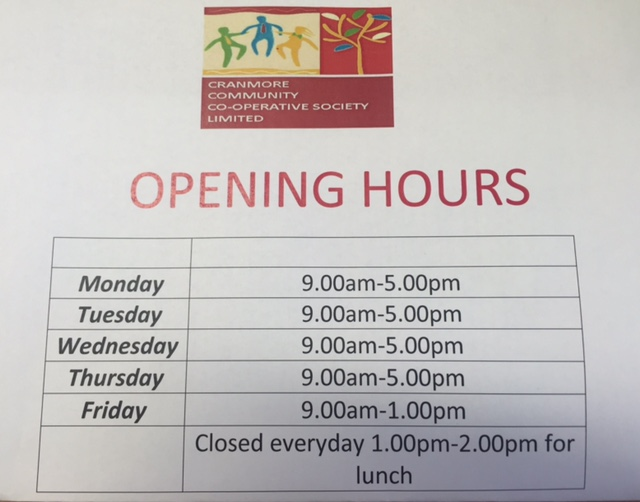 Opening Hours Co-op